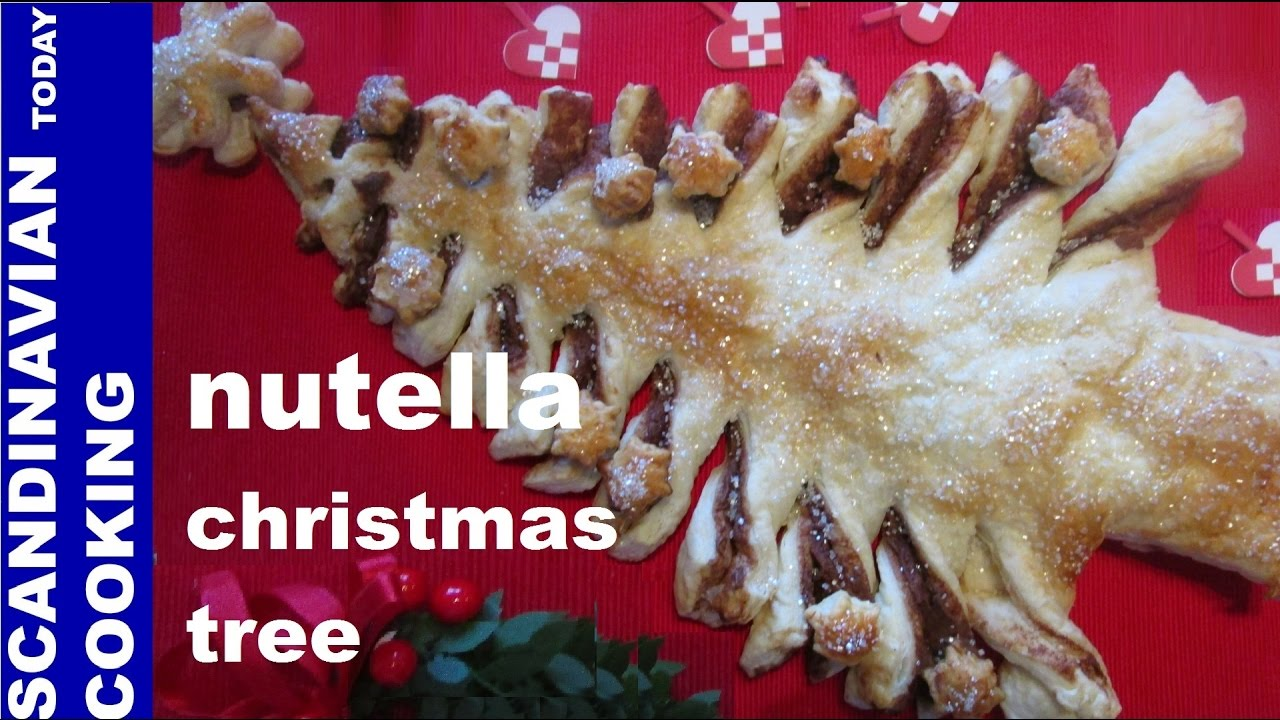 🎄 How To Make Easy Nutella Christmas Tree Puff Pastry ...