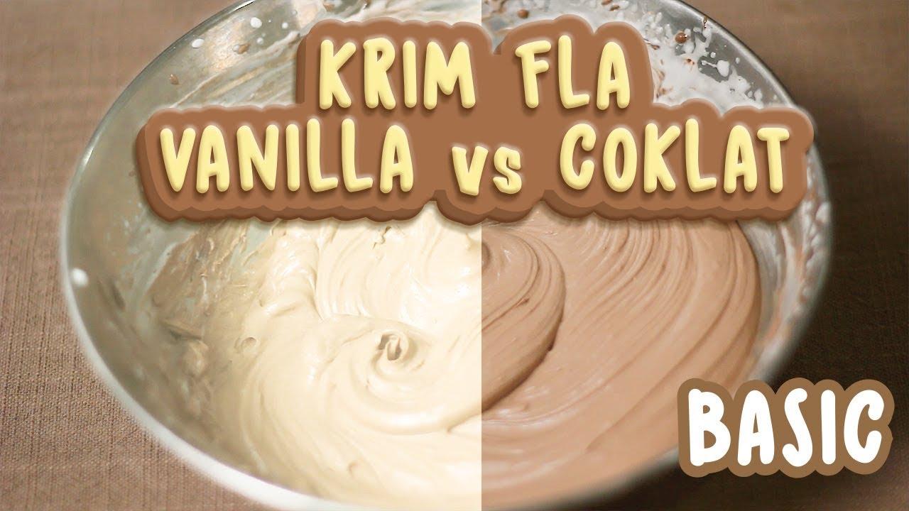 VANILLA & CHOCOLATE PASTRY CREAM  RESEP FLA  Recipes Videos