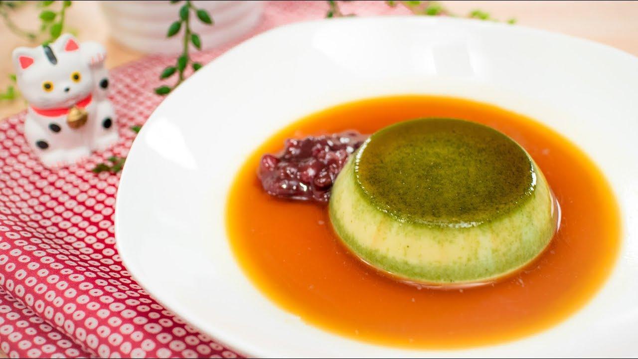 Matcha Caramel Pudding No Bake Recipe Pai S Kitchen Recipes Videos