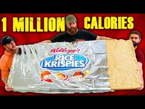 1 MILLION CALORIE RICE KRISPIE TREAT | Recipes Videos